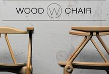 W / Wood chair design