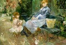 Berthe Morisot + entourage / 1841 Bourges- 1895 Paris décédée à l'âge de  54 ans