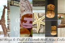 Wine Cork Crafts / I vow to drink more wine so I can do something crafty with the Corks.
