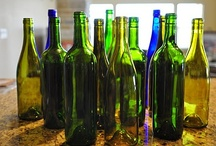 Wine Bottles Recycled  / Wine bottles come in so many colors and shapes. Basically colored glass for the garden, bathroom, kitchen any where in the home decor.