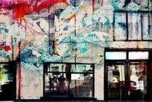 graffiti & street art / Graffiti and Street Art are huge inspirations for me. There is a freedom that is so exciting. I have always loved graffiti, my first ever projects as an art student were inspired by peeling posters and graffiti on the streets around Covent Garden. Of course not all graffiti or street art is beautiful but there are some truly special pieces
