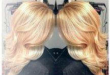 Blonde Hair Ideas / Golden blonde, honey blonde, light blonde, platinum blonde and ombre hair colors