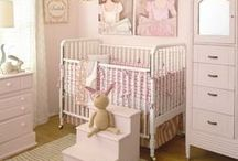 Baby Girl Nursery / A collection of baby girl nursery inspiration. #nursery #girlnursery #babynursery #baby