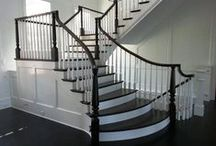 Flared/Custom Stairs / A well-designed flared staircase makes an instant statement.  Our innovative and skilled team enjoys working with homeowners, builders, designers, and architects to design and build beautiful flared staircases of all types and designs.  Whether your style is traditional or modern, and whether you prefer a staircase built of wood, metal, or glass, our team will embrace the challenge of bringing your unique vision to life.