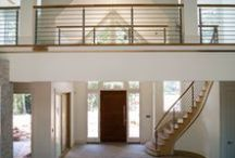 Stainless Steel / A stainless steel staircase lends a sense of modern sophistication and style to a commercial space or home.  Both durable and aesthetically pleasing, our stainless steel staircases are available in limitless designs and styles, and our innovative team is capable of bringing your unique vision to life.
