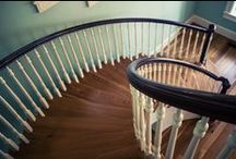 Traditional / From simple to elaborate, a traditional staircase will showcase a classic aesthetic. This classic aesthetic creates a warm and inviting feeling that frames the experience of the home or commercial building. As an experienced and skilled company, we have combined the tradition of craftsmanship with cutting edge technology to produce a distinguished product that simply does not compare.