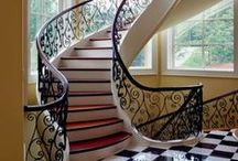 Tuscan / Elaborate Tuscan staircases incorporate hand forged iron balusters that create exquisite ornamental detailing.  We combine elegant crafted wood handrails with delicate detailed iron balusters to create old world craftsmanship. This very unique combination will transform your home into a Tuscan showcase.