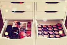 Storage & Organization / Ideas for storing and organizing makeup, clothing and beauty products.