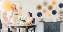 Luxe Collection / Create a classic and polished look with the Luxe Collection. Rich colors such as ivory, grey, navy, and gold make this collection timelessly luxurious. Choose this theme for engagement parties, rehearsal dinners, and bridal showers.