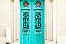Doors Around the World / From elaborately carved wooden doors rimmed with gold to bright teal lacquered doors edged in wraught iron, the entrance of your home should make a statement!