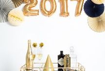 NYE Decorations 2017 / Cheers to the new year! Toast to 2017 in style with gorgeous décor, party ideas, and styling tips. Don't forget to have the champagne flowing and glasses clinking!