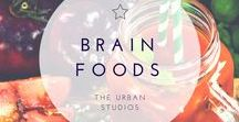 BRAIN FOODS. / All foods that help to promote a healthy brain and mind.