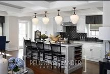 Traditional Kitchens / Marble, granite and quartz countertops, backsplashes and islands.