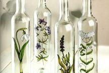 üvegfestés - ötletek üvegből