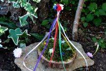 Handmade Maypoles. May Day Celebration. /  Pics of the Maypoles I have made.