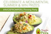 Summer 2015 / Celebrate our Peak of Perfection with Avocados from Peru! Join our Pinterest Party on August 12, 2015 from 8 pm - 9 pm ET for fun trivia, prizes, and more!