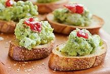 """Starters/Snacks / Over 75% of the fats in an Avocado are mono and polyunsaturated fats, also known as the """"good fats"""" and can satisfy your hunger when replacing other fats in a calorie-restricted diet."""