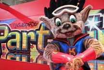 BRAND MASCOTS: Family Entertainment Centres / Brand Mascots manufactured by Rainbow Productions for Family Entertainment Centres.