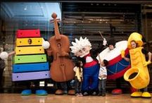 BRAND MASCOTS: Festivals & Events / Brand Mascots manufactured by Rainbow Productions for Festivals and Events.