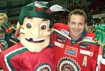 SPORTS MASCOTS: Ice Hockey / Sports Mascots manufactured by Rainbow Productions for Ice Hockey Clubs.