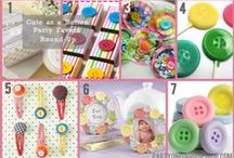 Sew Cute Button Parties / Cute as a Button, Sewing or Lalaloopsy birthday party or baby shower ideas