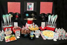 Star Parties (rock & movie) / Ideas for a Music, rock star or movie star party: activities, games, decor and food