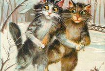 Çılgın kediler / Kedi kartpostalları ve diğer