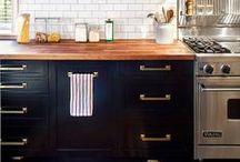 KITCHEN - brass/copper / interior design ideas with brass or copper