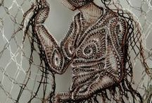lace -some techniques / needle lace (oya turkish needle lace ...), romanian point lace = macrame crochet lace, Brugges crochet lace, hairpin lace,  Hungarian artist Agnes Herczeg