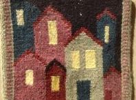 weaving - small / miniature, tapestry 25-60 cm