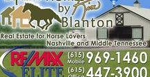 Real Estate for Horse Lovers / All things equine in Middle Tennessee including real estate, barn ideas, horse related suppliers, places to ride and much more