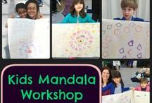 Kids Yoga and Crafts / Super fun activities to do with kids at the end of yoga class or in a kids yoga camp.