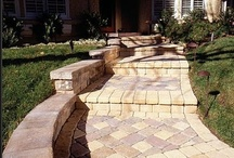 Impressive Walkway and Stairway  / Front yard landscaping is ineffective without a beautiful walkway that enhance your home's curb appeal and provide a way for you and guests to get to your front door.