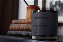 Black Forest Fragrance / A blend of Dark ebony woods, Douglas fir and a hint of black patchouli blend together to create a rich and luxurious bottom note. Full bodied mulberries and oak moss create a solid middle, and the zest of Italian mandarin coupled with crisp black currants adds a light and surprisingly distinctive top note.
