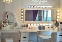 Makeup Vanity - Decor and Storage / Vanity Placement & Makeup Storage/Organization