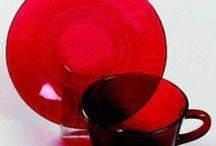 RED DEPRESSION GLASS
