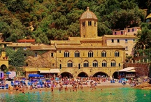 GENOA San fruttuoso / From the little pretty port of Camogli, every hour, a ferry leaves to Punta Chiappa and monastery of San Fruttuoso famous for its Christ of the Abyss and its crystal clear water.