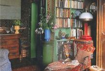 Boheme Library N Nook / 'Cosy inspiring Reading places - makes study not so much a chore :P Enjoy inspirations, adding over time whilst I update and up-cycle my own spaces...