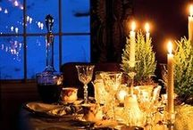 Tablescape / ✧☽ #Bohemefit Seasonal table setting traditions both #diy and #décore ☾✧