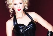 Wet Look, Vinyl and Leather Corsets / For the more adventurous.