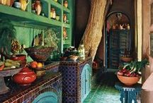 Boheme Kitchen / ✧☽ #Bohemefit kitchens both #diy and #décore - for nature and earthy loving cookery for path pagan and wiccan ☾✧