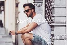 Men Style; Casual / Follow us for some well dressed classy casual outfits you can wear this summer! And for the ladies... no explanation needed;)