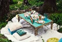 Outdoor Dining / ✧☽ Bohemian loving Outdoor Dining Tables ~ Welcome to the Table ☾✧