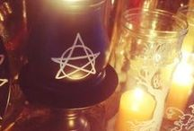 Candle Magick / ✧☽ #Bohemefit Candles used in #Magick and a #Sacred space both #diy and #décore ☾✧
