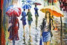 an umbrella shop - une boutique de parapluies - un negozio di ombrelli / jesień 2