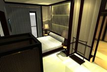 Bedroom project contemporary  / Contemporary design, minimalism, oriental inspired