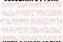 Pi Day FUN! / All things FUN related to Pi Day (March 14, aka 3.14)!! Find even MORE fun math ideas at MathGeekMama.com