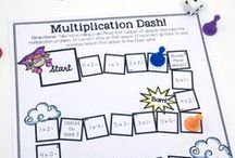 Multiplication and Division Resources / All the best math tips, ideas, games and lessons for teaching and exploring multiplication and division! These are such important concepts to master, so this board shares ways to make it fun and engaging! Find more resources at MathGeekMama.com!