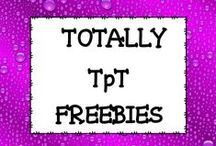 Totally TpT FREEBIES! / PIN ONLY FREE ITEMS.   Not a rule, but if you would like to repin an item, please delete the first pin. In order to keep this board looking great, if your pin doesn't have at least 50 repins after a couple of weeks, it will be deleted so choose great pins. Please email mamapearson76@gmail.com if you'd like to join this board.