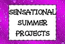SENSATIONAL SUMMER PROJECTS / This board is dedicated to summer projects for the classroom.